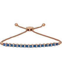le vian women's 14k strawberry gold®, blueberry sapphire™ & vanilla diamonds® bolo bracelet