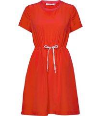branded draw cords w kort klänning röd calvin klein jeans