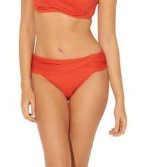 women's bleu by rod beattie sarong hipster bikini bottoms, size 14 - orange