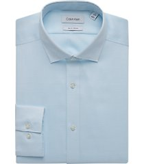 calvin klein aqua geometric slim fit dress shirt