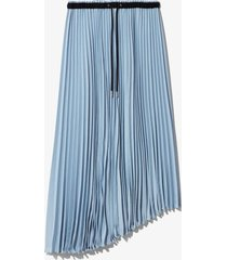 proenza schouler white label crepe pleated skirt sky/blue l
