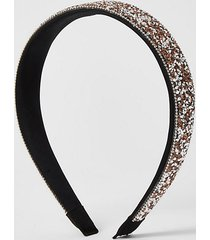 river island womens rose gold embellished headband