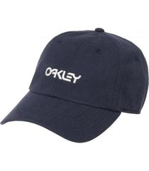 boné oakley 6 panel washed cotton hat blackout