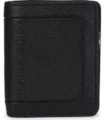 marc jacobs women's embossed logo compact wallet - black