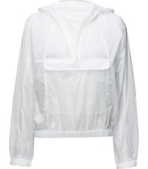 w celia jkt transparent nylon zomerjas dunne jas wit j. lindeberg