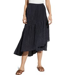 women's vince tiered textured midi skirt