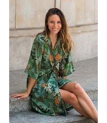 kimono ohana w tropikalny wzór
