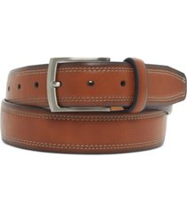 club room men's faux-leather casual belt, created for macy's