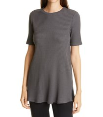women's eileen fisher ribbed tunic, size medium - grey