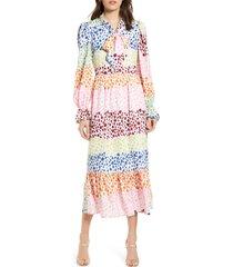 women's never fully dressed esme long sleeve maxi dress