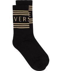 versace 1990s' vintage-logo socks - black