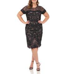 plus size women's js collections soutache lace cocktail dress