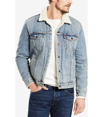 levi's men's sherpa denim trucker jacket