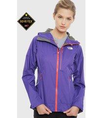chaqueta the north face w impendor gtx jacket morado - calce regular