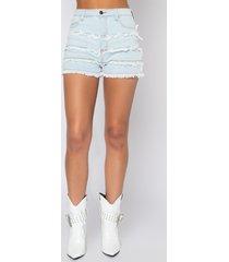 akira fringe benefits high rise denim shorts