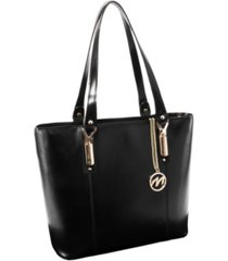 mcklein savarna ladies tote with tablet pocket