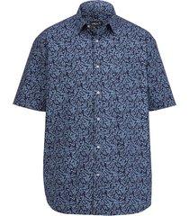 kortärmad skjorta men plus marinblå::ljusblå