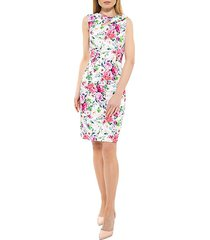 harper floral sheath dress