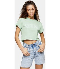 green madrid crop t-shirt - green