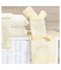 jogo de banho bordado 05 peças topázio marfim - vilela