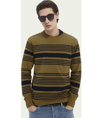 scotch & soda lichtgewicht sweater met speciale strepen