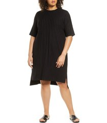 plus size women's eileen fisher stripe shift dress