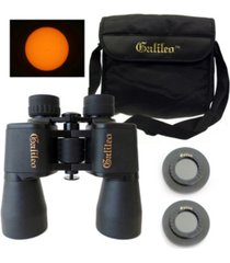 galileo 8 x 40mm bird watcher binocular kit with solar filter caps and shoulder case