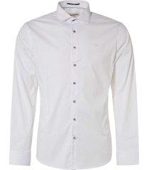 no excess shirt, l/sl, super stretch solid white
