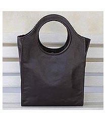 leather handbag, 'espresso fashion' (brazil)
