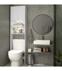 armã¡rio banheiro com 2 leds para vaso sanitã¡rio e 2 portas multimã³veis branco - branco - dafiti