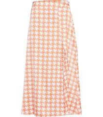 split skirt knälång kjol orange ivyrevel