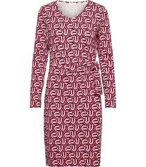 dress knitted fabric jurk knielengte rood gerry weber