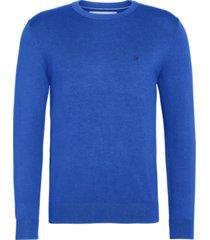 ckj chest logo sweater azul calvin klein