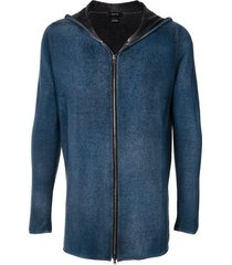 avant toi zip-up cashmere-blend hoodie - blue