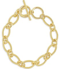 sterling forever women's goldplated chain link toggle bracelet