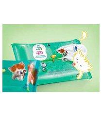 banho de gato lenços de limpeza naturé - 50un