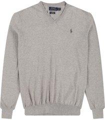 sweater andover heather polo ralph lauren m/l unicolor c/v slim fit pima cotton ppc