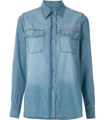 eva camisa jeans delave - blue