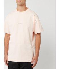 acne studios men's jaxon t-shirt - dusty pink - l