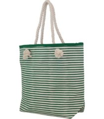 cb station knotted rope tote stripes