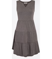 maurices womens solid tiered babydoll dress gray
