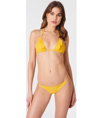 na-kd swimwear bikinitrosor med tunna band - yellow