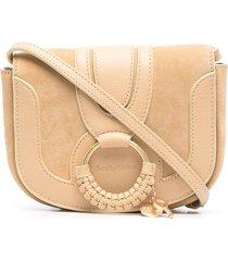 see by chloé hanna o-ring detail crossbody bag - neutrals