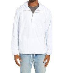 men's bp. cagoule hooded nylon popover jacket, size xx-large - white