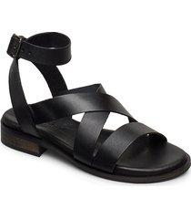 joana shoes summer shoes flat sandals svart pavement