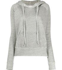 nili lotan rayne distressed detail hoodie - grey