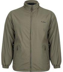 jaqueta parka satin com manta e capuz embutido nut