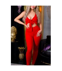 sexy jumpsuit rood