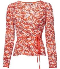 leonora wrap blouse