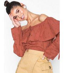 nly trend off shoulder boho blouse blusar & skjortor